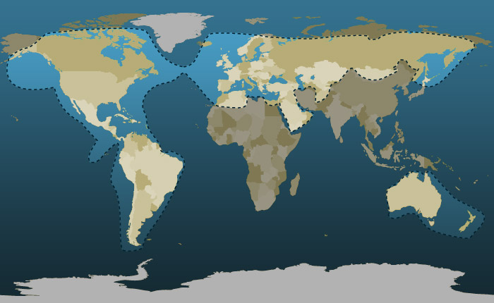 Globalstar Coverage Map