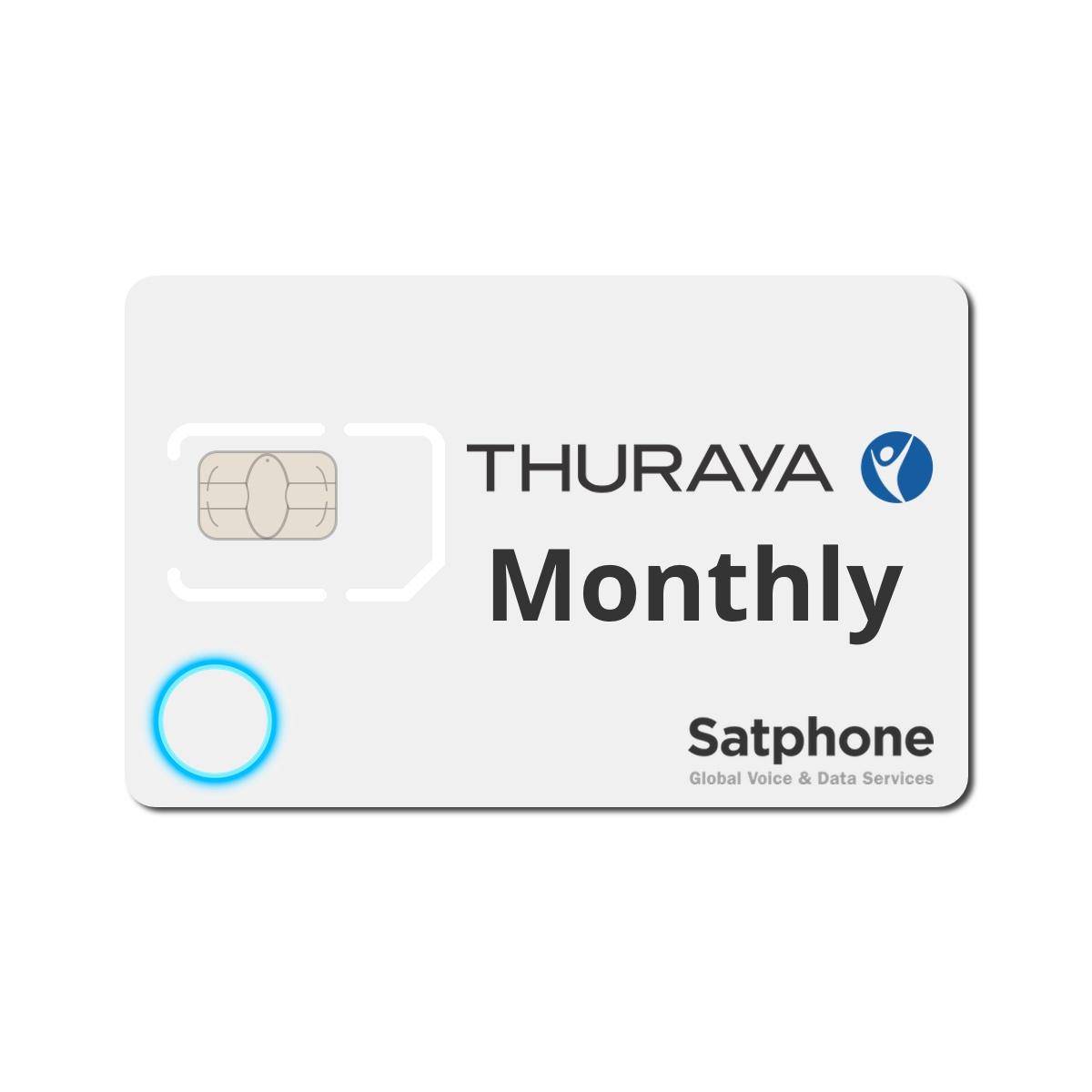 Thuraya Monthly SIM